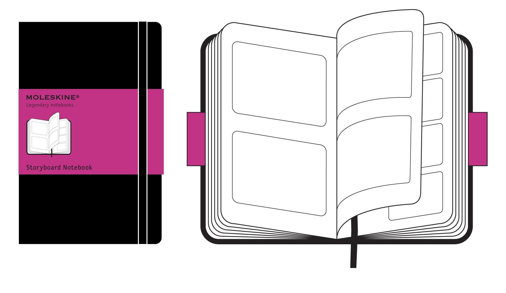 Storyboard-Notizbuch Moleskine Kreativ-Notizb/ücher Hardcover schwarz Large
